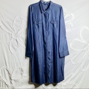 Basic Edition Chambray Denim Dress